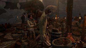Na tržnici kočovníků bylo živo, ale pohybovat se zde byla díky ovládání čirá frustrace.