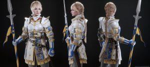 Slavnostní brnění postavy Sera, což podle popisku má být jedna z hlavních postav hry.